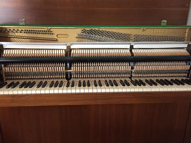 La mécanique du Piano droit Baldwin
