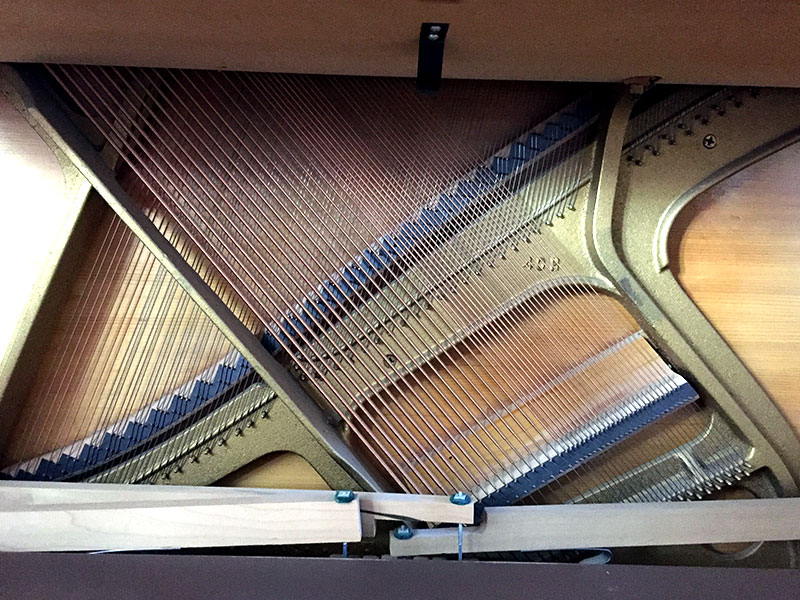 La table d'harmonie du Piano droit Baldwin