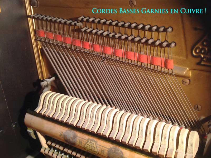 Cordes basses du piano Cable