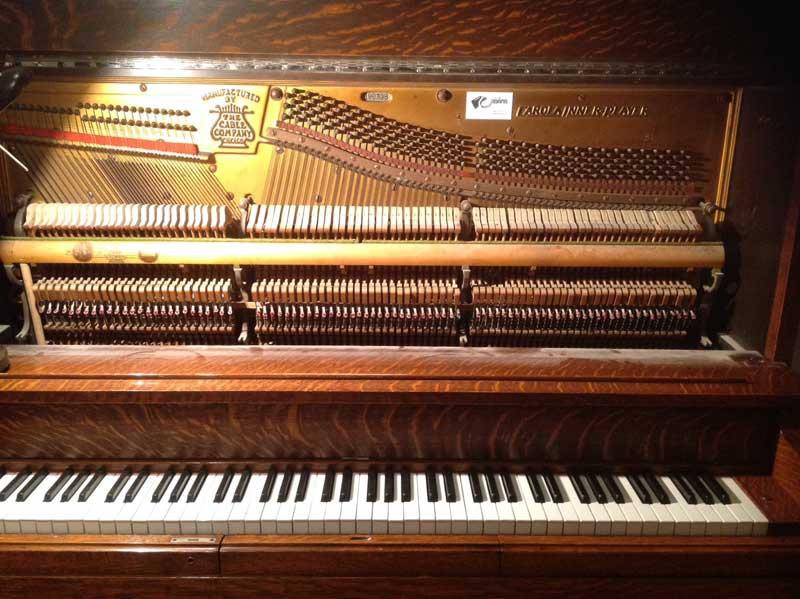 Le clavier du piano Cable