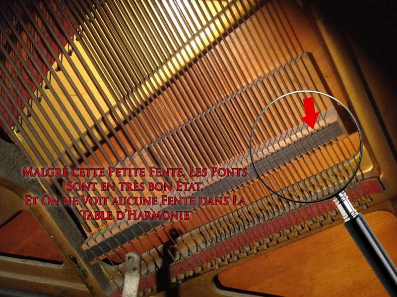 Pont des basses du piano Cable