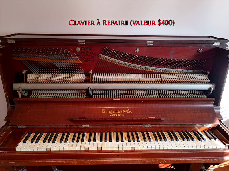 Clavier du piano Heintzman Co