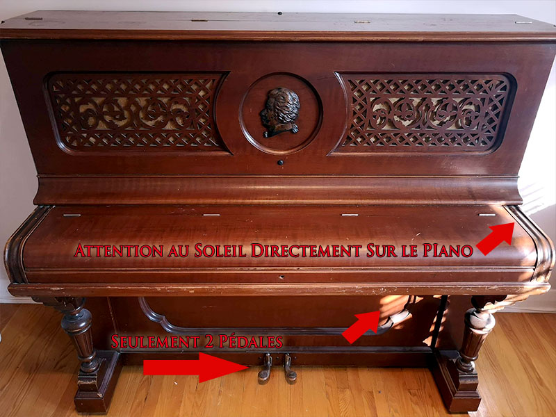 Meuble du piano Heintzman Co