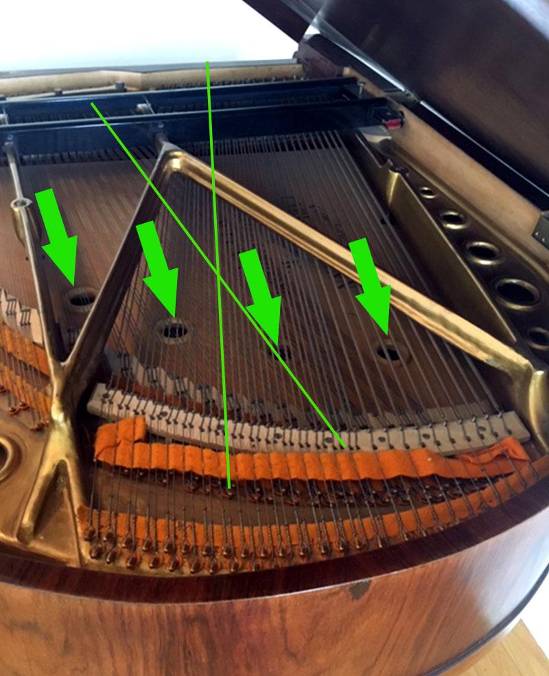 Cordes croisées du Piano Julius Carl Hofmann