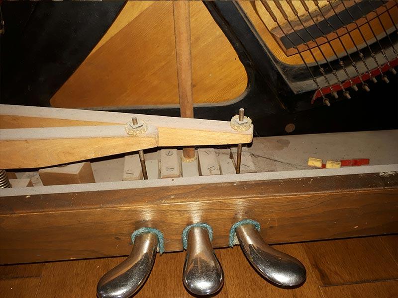Pédalier du piano Otto Higel