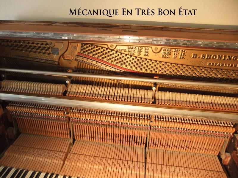 Mécanique de piano droit