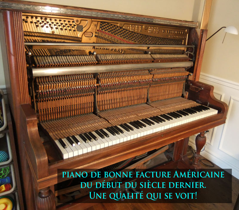 Bonne qualité de piano américain