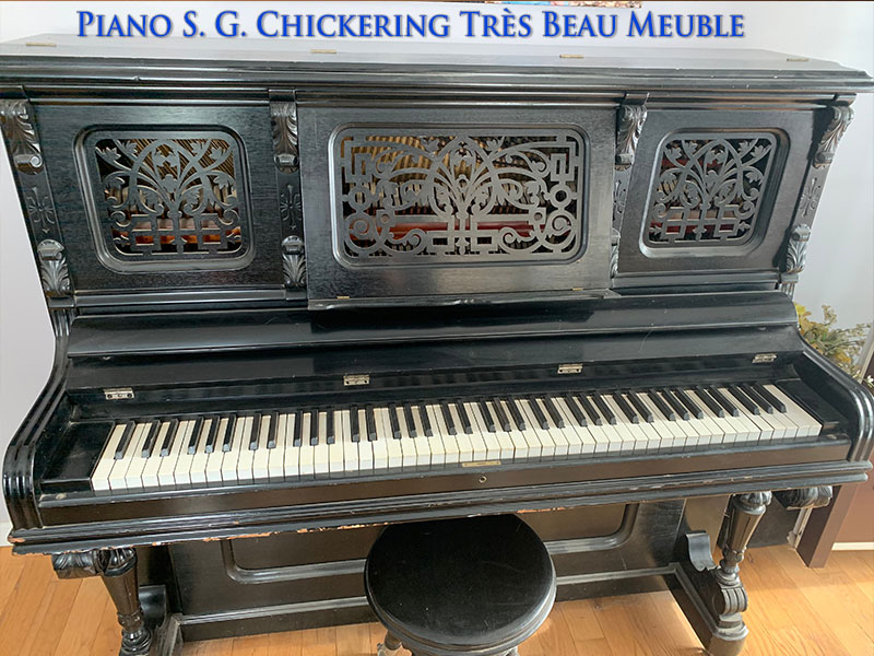 Piano droit S. G. Chickering
