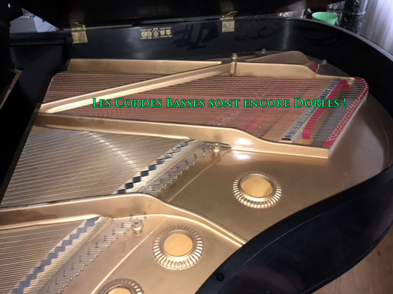 Cordes basses du Piano Baldwin queue