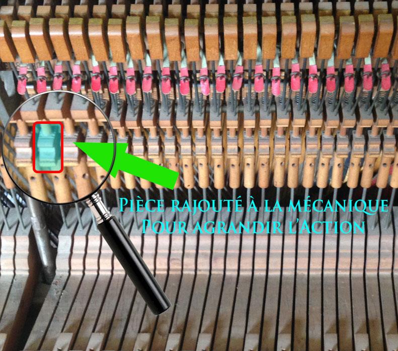Les courroies du Piano Heintzman