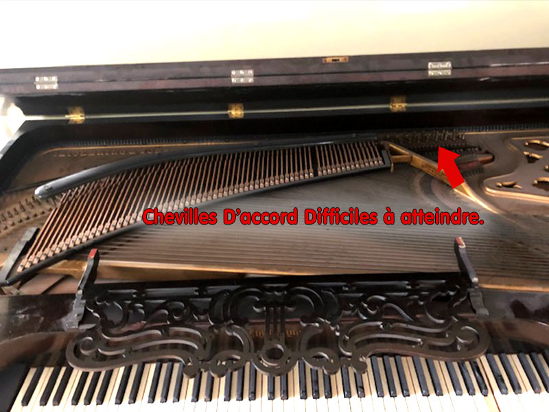 Chevilles du piano table Chickering