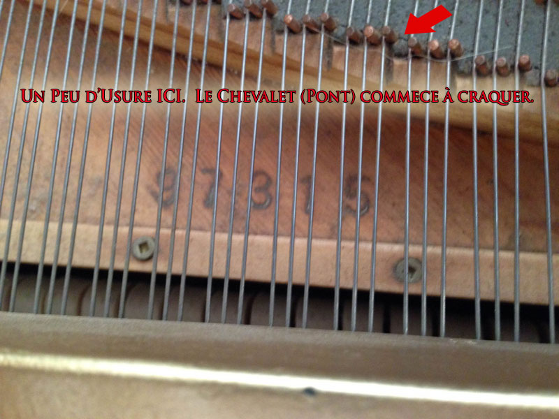 Les ponts ou chevalets du Piano Chickering