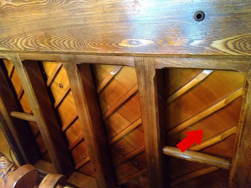 Table d'harmonie du piano droit Edison