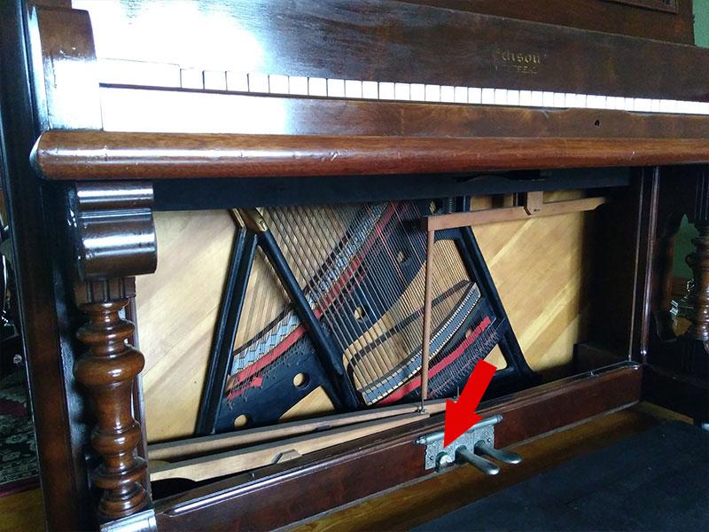 Pédales du piano droit Edison