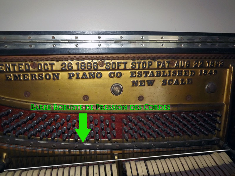 Barre de pression du piano Emerson