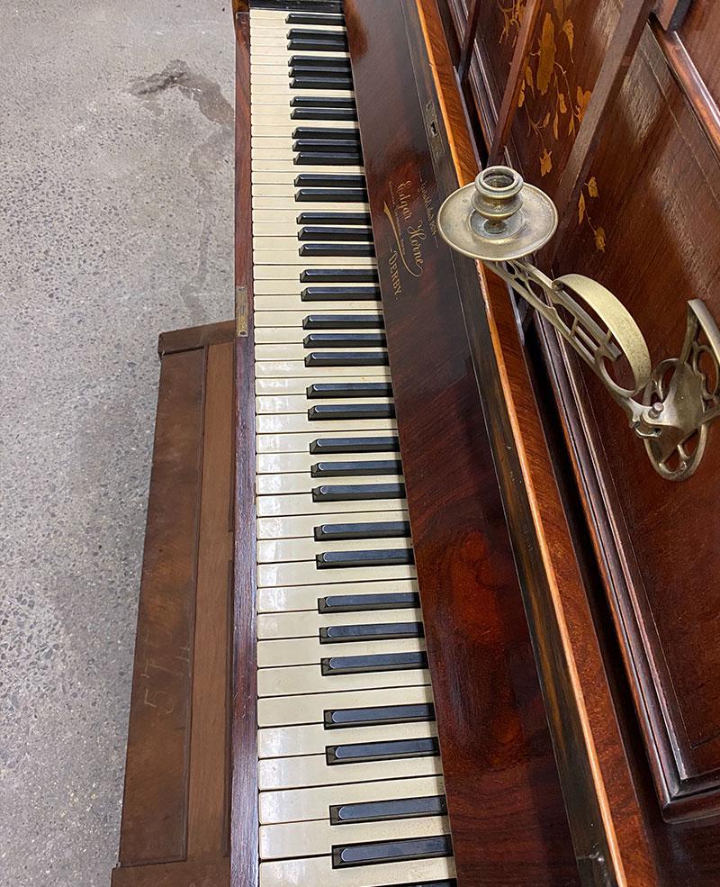 Clavier du piano Edgar Horne