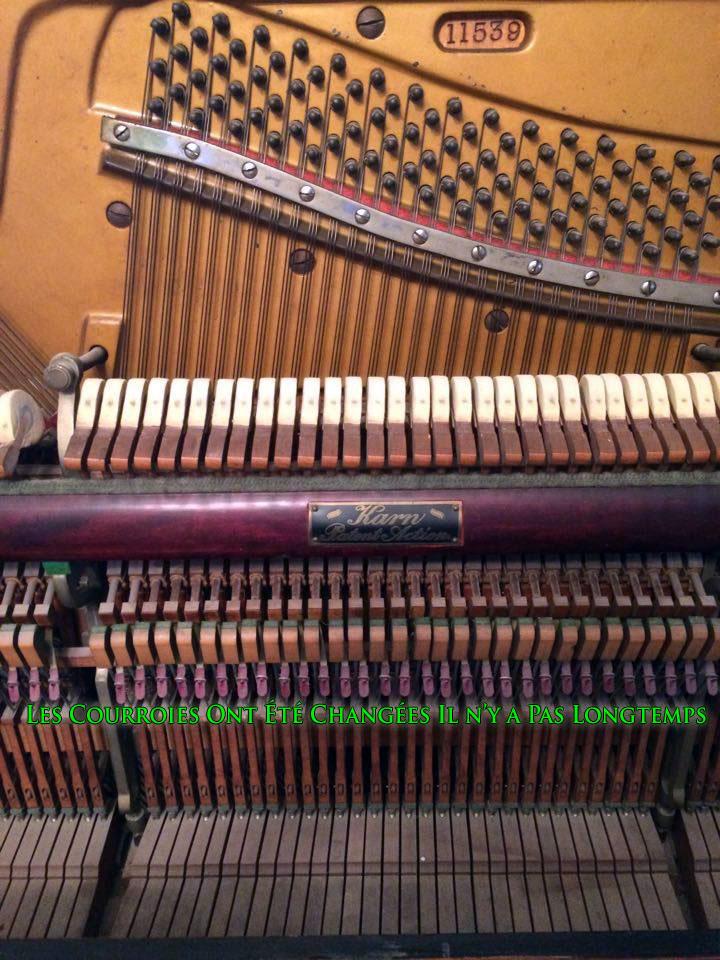 Courroies changées du Piano Karn de WoodStock Ontario