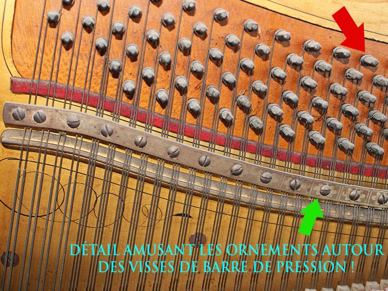 Chevilles et barre de pression du Piano Berlin