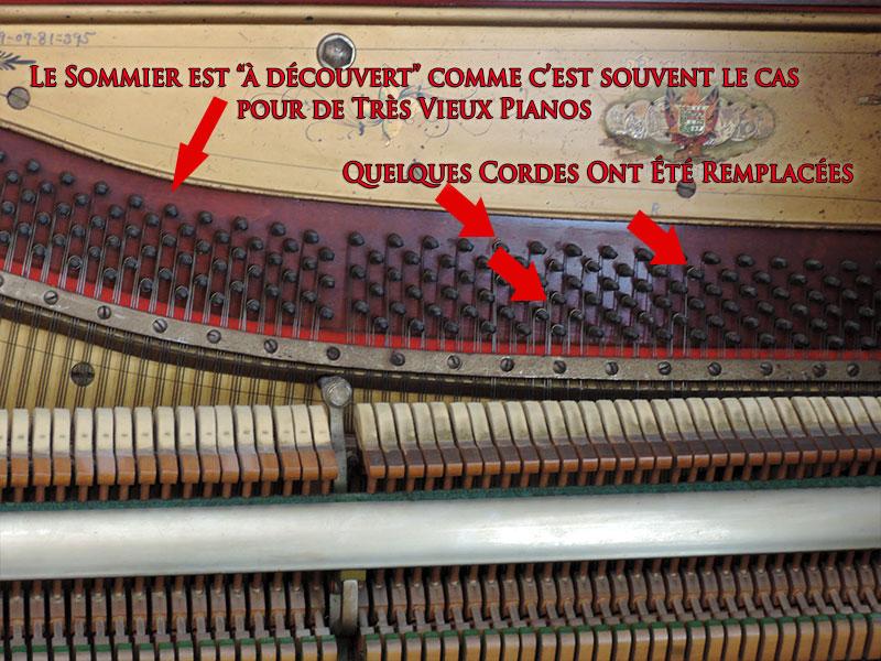 Sommier du Piano droit Palmer