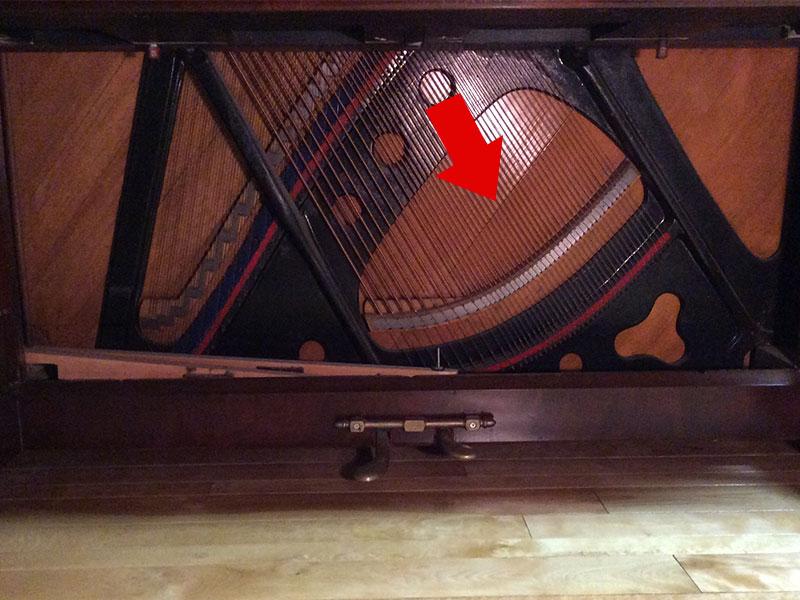 Les pédales du Piano Hazelton Bros