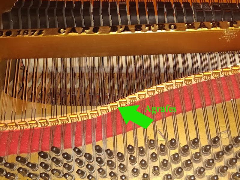 Les agrafes du piano Steinway ModèleA