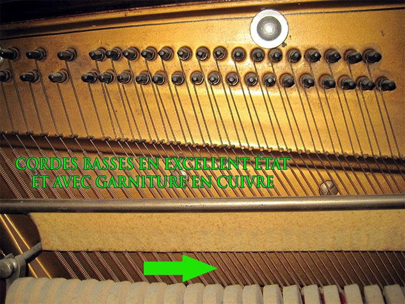 Cordes basses du piano droit Blouin
