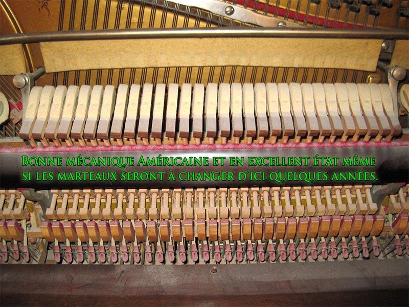 Bonne mécanique ou action du piano droit