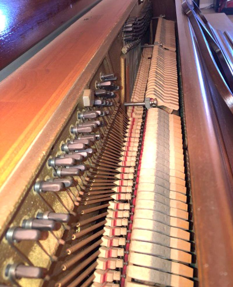 L'intérieur du Piano Mason & Rich