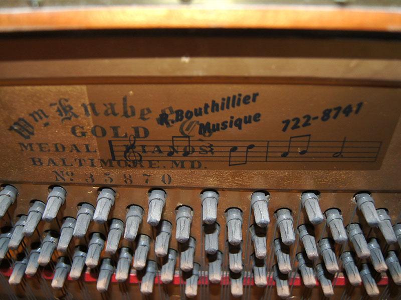 Piano Knabe numero de serie