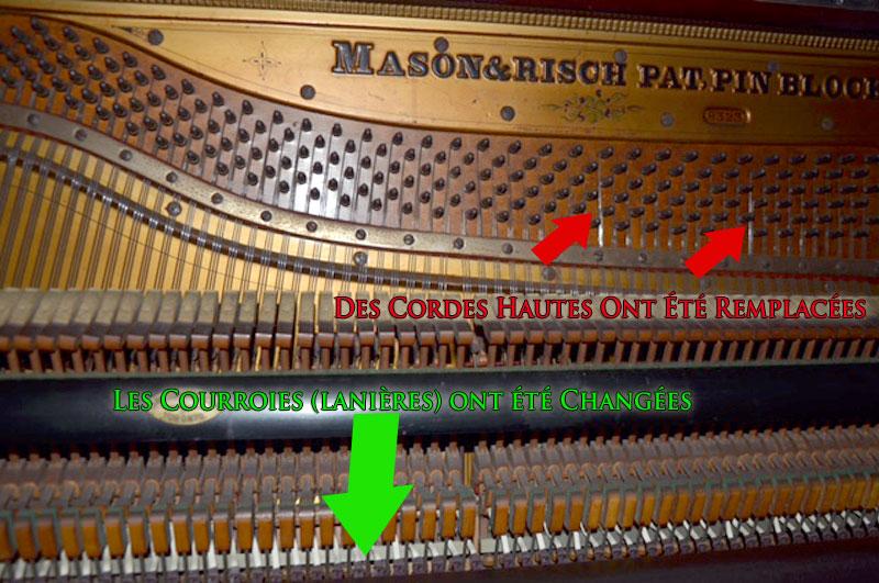 Cordes du Piano Mason and Risch de Toronto