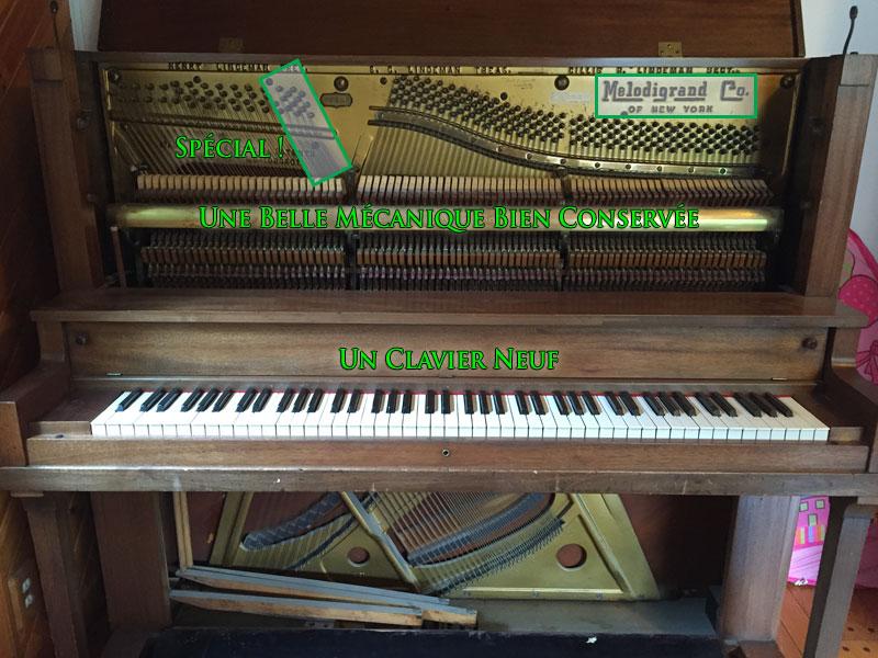 L'intérieur du Piano MelodyGrand