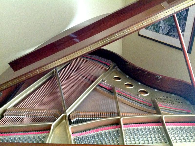 Intérieur du Piano Lesage