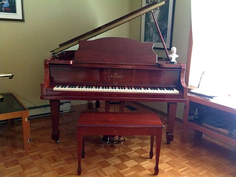 Piano Lesage ouvert