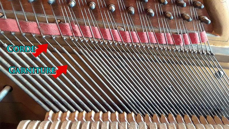 Cordes basses du Piano droit Lindsay