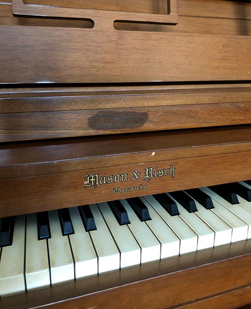 Clavier du Piano Mason & Risch