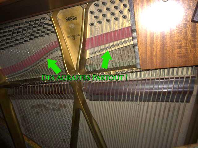 Agrafes du Piano Heintzman model D