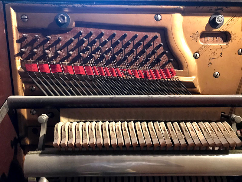 Cordes basses du Piano Lindsay droit