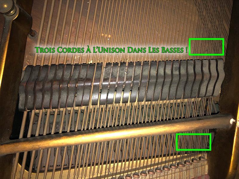 Les basses à trois cordes du piano Weber