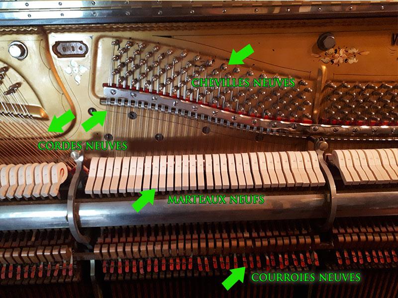 Restaurations du Piano droit Willis de 1902