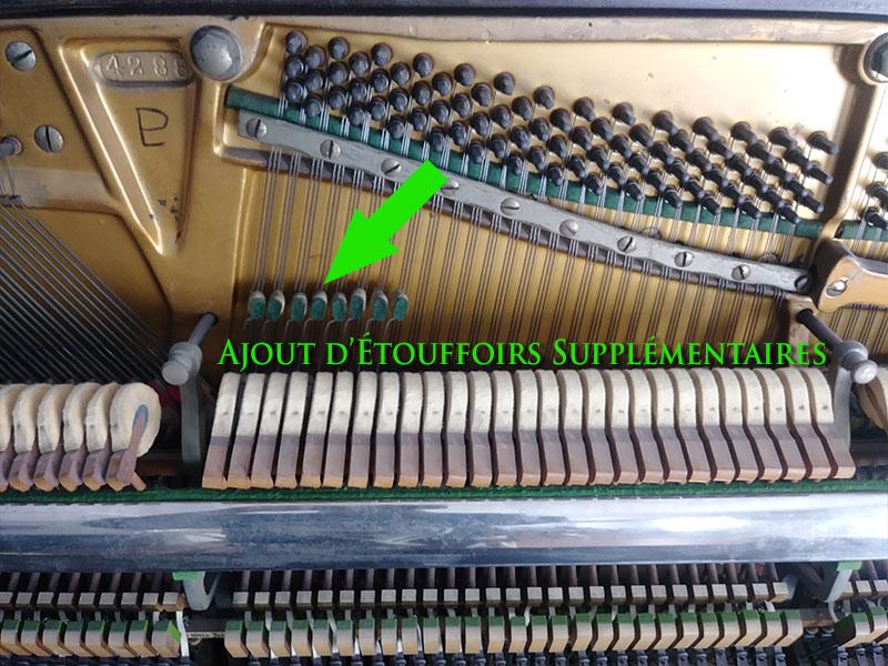 Précision de construction du Piano L.E.N. Pratte