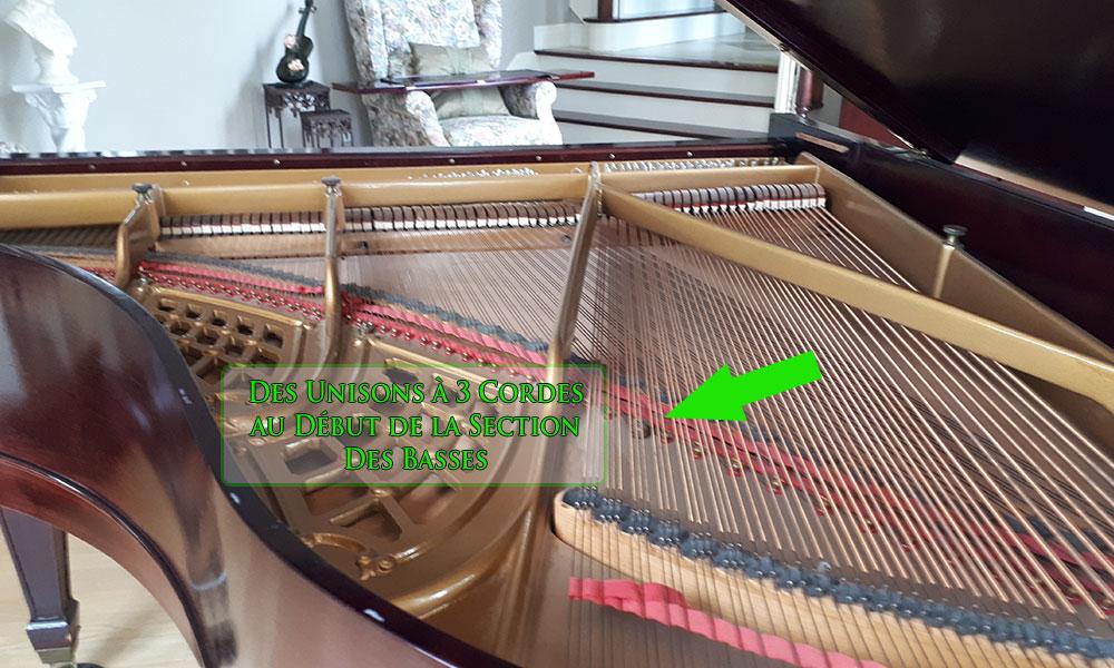 Cordes du piano Henry Miller