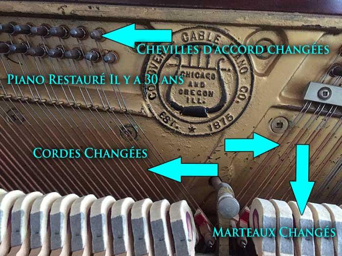 Piano Cable restauré par Montréal Pianos