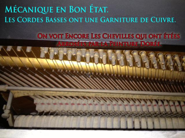 Chevilles et mécanique du piano Kohler & Campbell