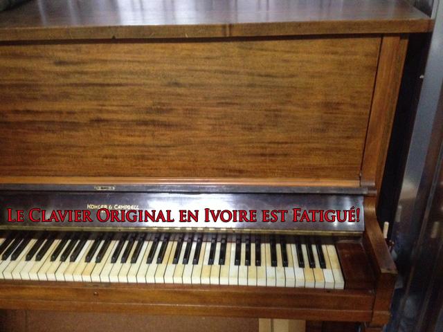 Meuble du piano Kohler & Campbell