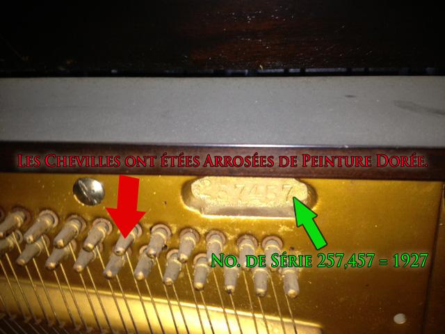 Le numéro de série du piano Kohler & Campbell