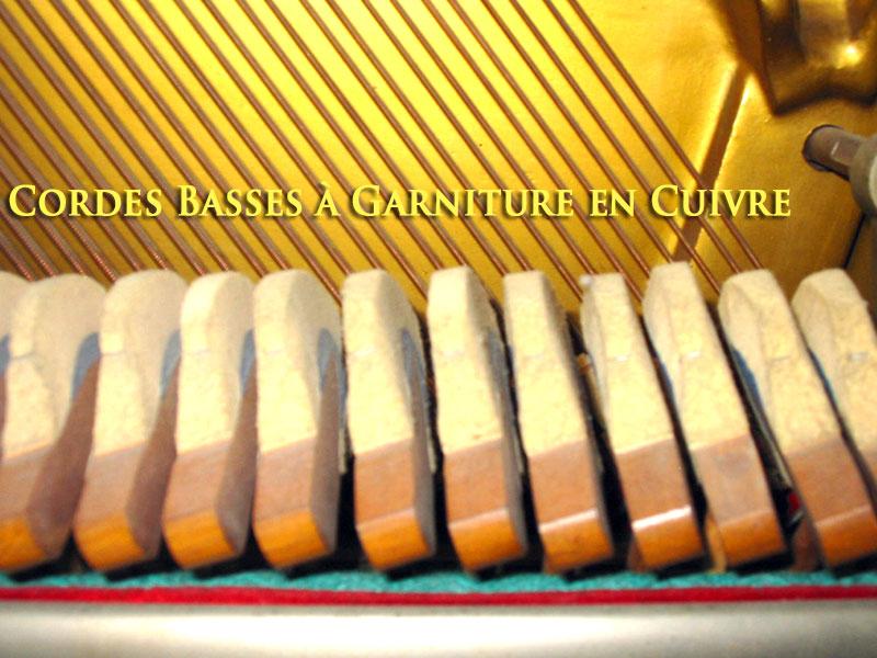 Piano Pratte cordes basses en cuivre