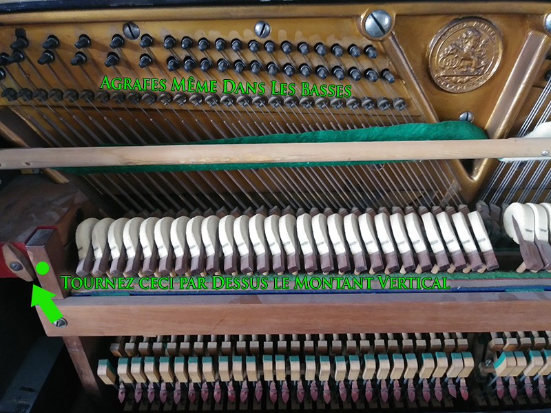 Action du piano droit Bechstein