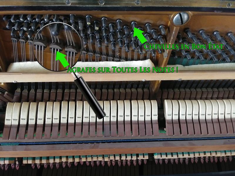 Les agrafes du piano droit Bechstein