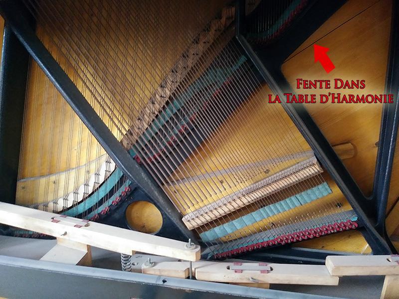 Table d'harmonie du Piano droit Bechstein