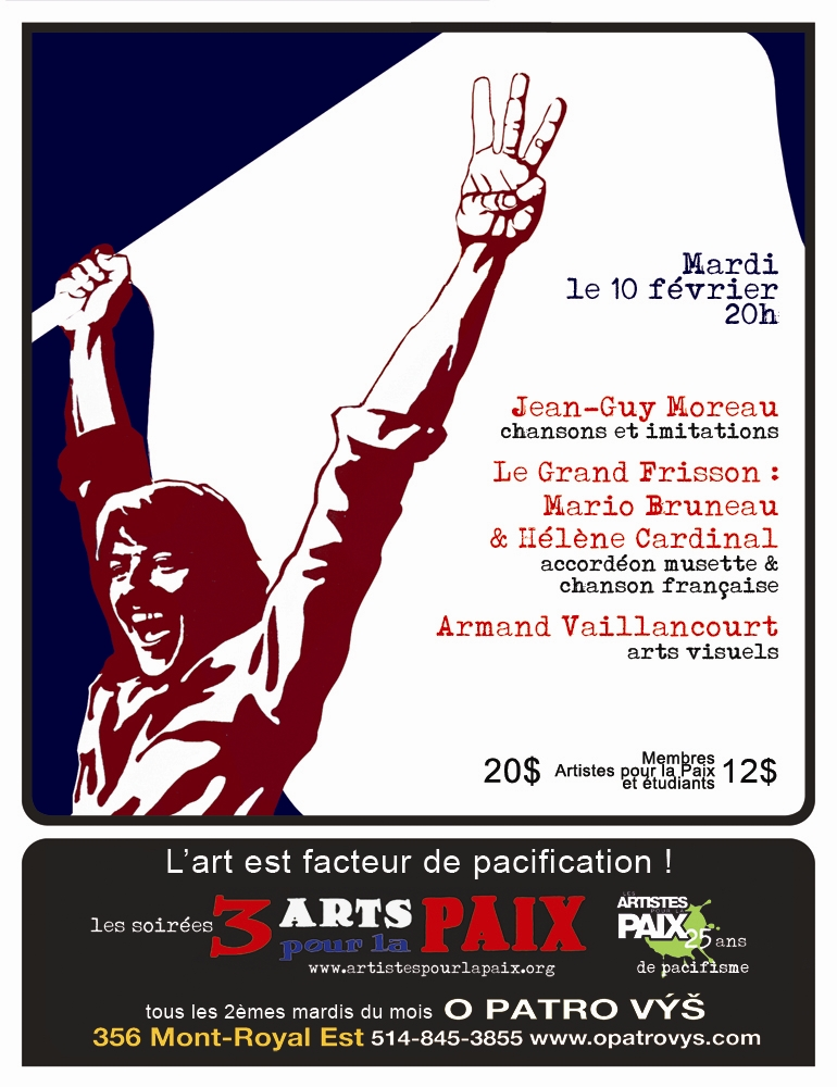 The 3 Arts For Peace Poster from LES ARTISTES POUR LA PAIX